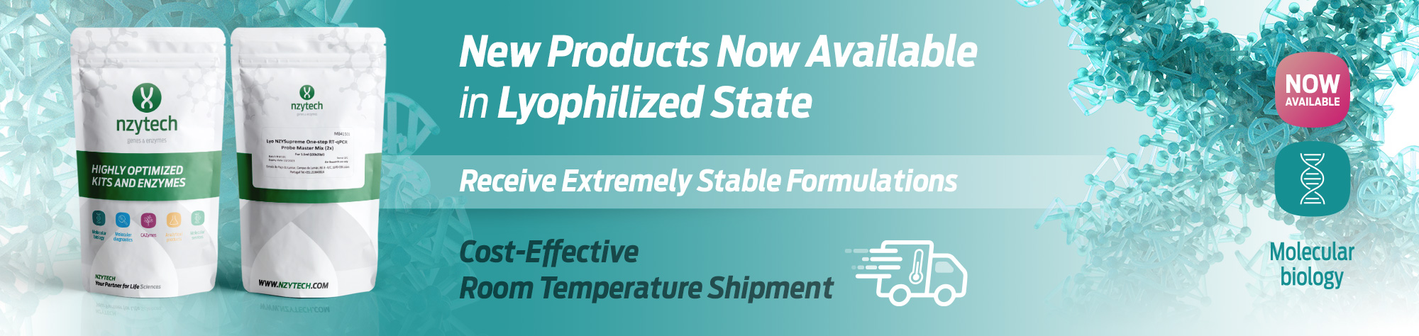 New lyophilized products available