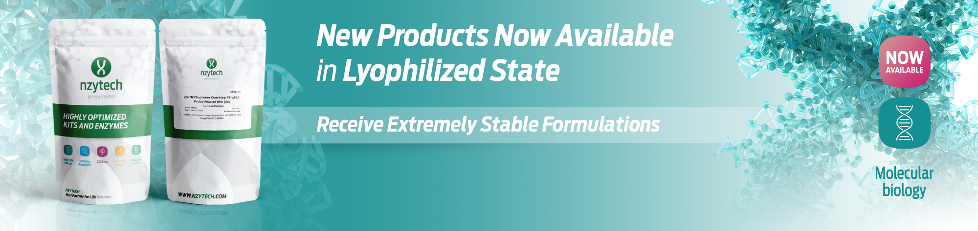 New Products in Lyophilized State