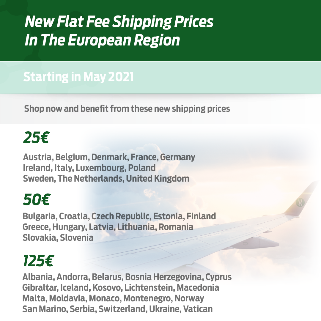 New Shipping Prices for Europe